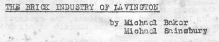 Title and authors of an article in the summer 1949 'Lavington Forum'