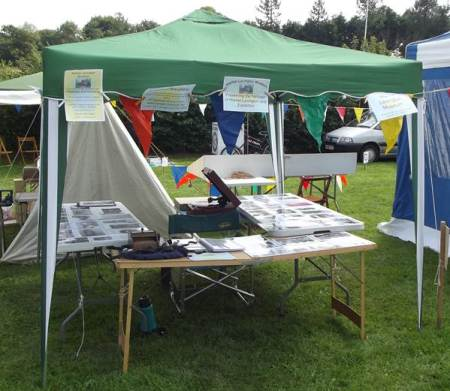 Market lavington Museum's stall at Easterton Show