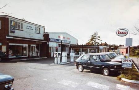 The Spring Filling Station, Market Lavington in the 1970s