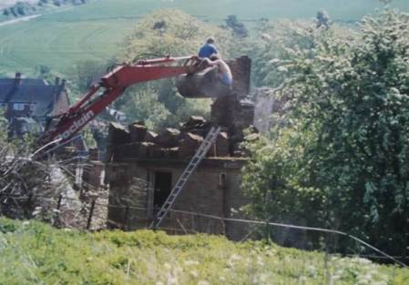 The end of the chimney stack at Grove Farm, Market Lavington