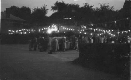 Celebrating VJ Night in Easterton - 1945