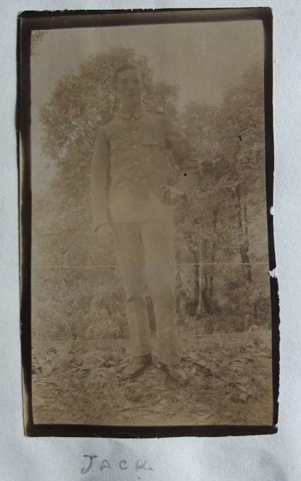 Jack - a World War One photo in the album of Jack Welch of Market Lavington