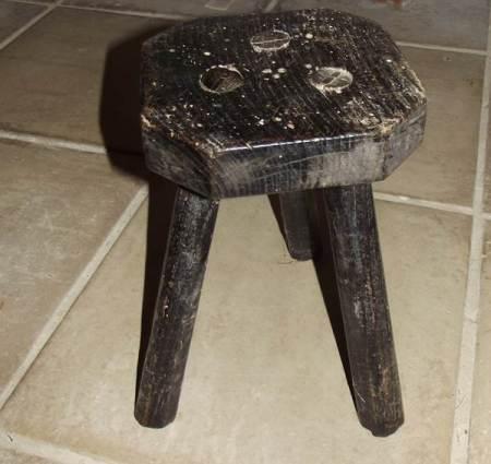 A 19th century milking stool at Market Lavington Museum