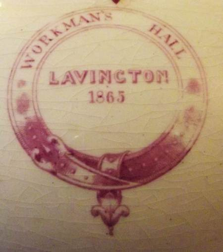 Workman's Hall, Lavington, 1865 - the motif on all of the crockery