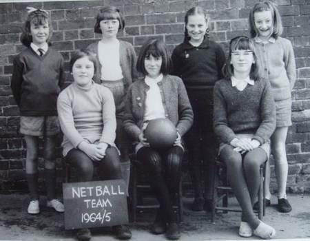Market Lavington School netball team 1964/65