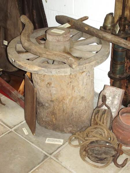 Wheelwright's display at Market Lavington Museum