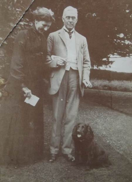 Sir Thomas Warrington and his wife Emma Maud at their Wiltshire home - Clyffe Hall, Market Lavington