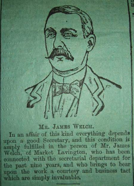 James Welch, sketched and mentioned as a part of the article