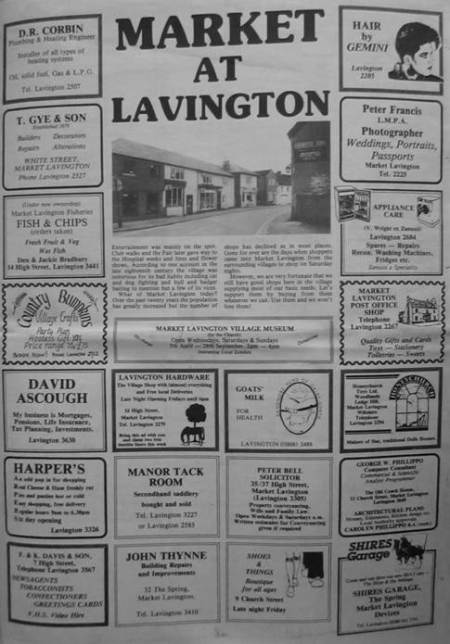 1986 newspaper page about Market Lavington