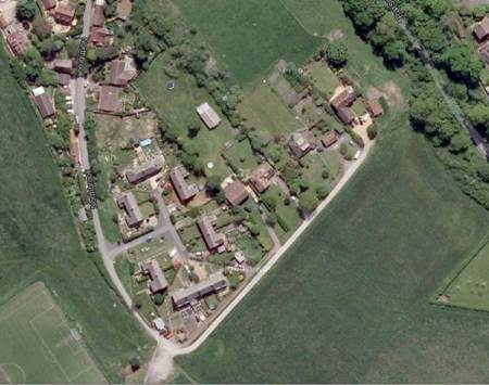 A similar view from a modern satellite image