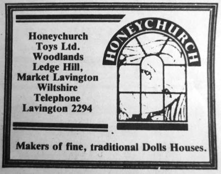 Honeychurch Toys advert