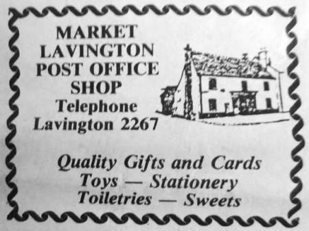 Market Lavington Post Office Advert
