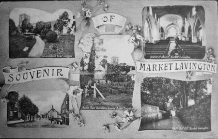 Postcard entitled  Souvenir of Market Lavington