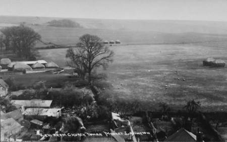 A view from Market Lavington Church - looking South. The photo was taken in about 1920.