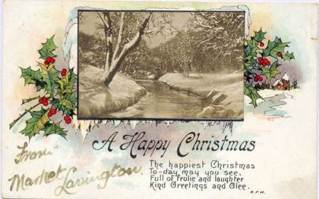 A Christmas Card from Market Lavington sent in 1922