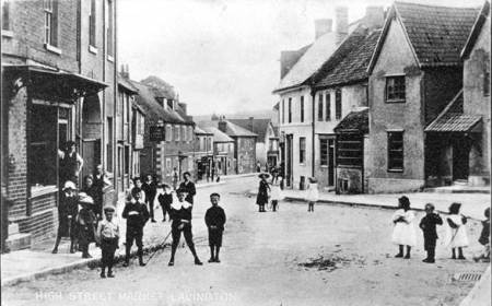 Market Lavington High Street and into Church Street - early 20th century