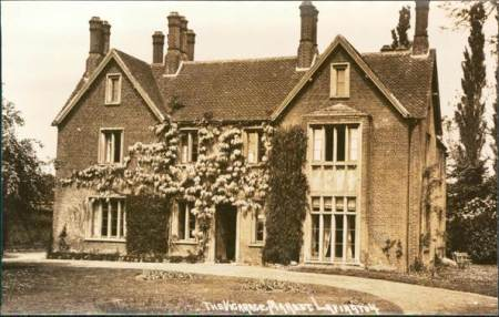Market Lavington Vicarage from an Edwardian postcard by Mr Burgess