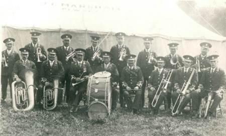 Market Lavington Prize Band in the 1920s