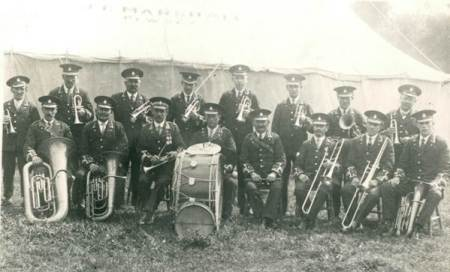 Market Lavington Prize Band in the 1920s