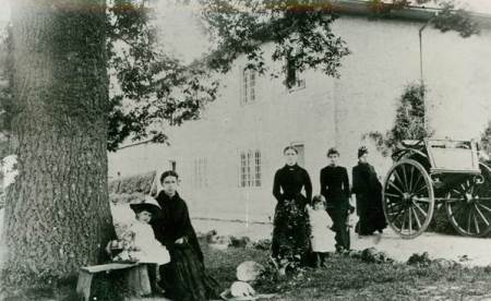 The Sainsbury family at Parham Farm - probably in the 1880s