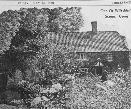 Cornbury Mill - a newspaper photo from 1953
