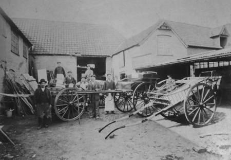 Gye's Yard, Market Lavington in 1906