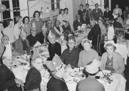 A Market Lavington Christmas party for older folk - back in 1961