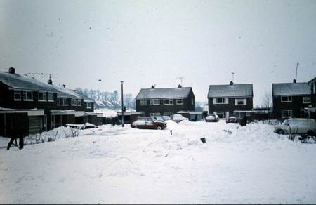 The 1982 winter as recorded in Yeoman Close, Market Lavington