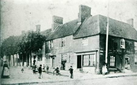 Market Lavington Market Place in about 1870