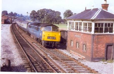 Western Emperor passes Lavington Signal Box in about 1965