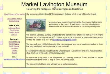 market Lavington Museum website relaunched at www.marketlavingtonmuseum.org.uk