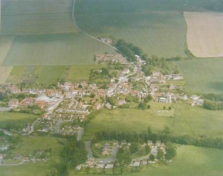 Aerial photo of Market Lavington taken in 1980