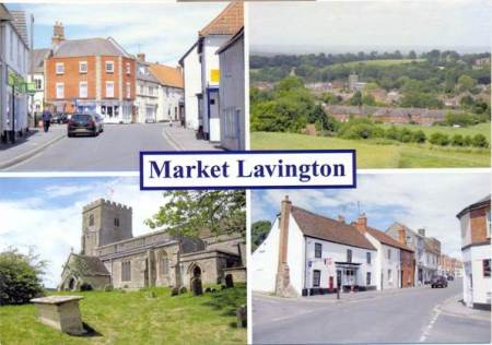 2011 multiview postcard of Market Lavington