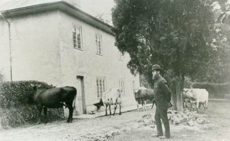 John Sainsbury at Parham Farm in the 18880s