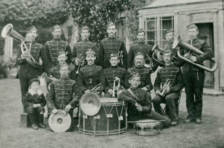 Market Lavington Band in the 1890s