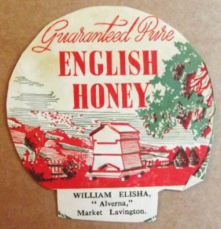 William Elisha honey jar label