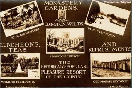Edington Monastery Gardens were a popular day out venue for Market Lavington folk
