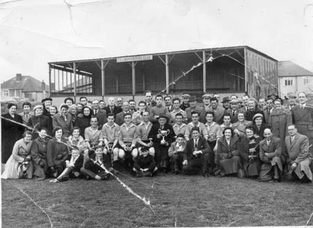 Market Lavington and Easterton United Football Club and supporters - possibly in 1950