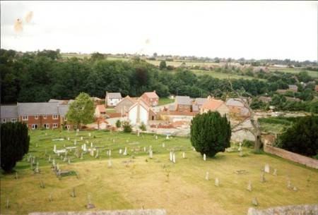 A view from St Mary's, Market Lavington in 1990