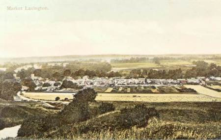 Lavington from the hill - an Edwardian hand coloured postcard
