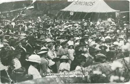 Conservative demonstration at Market Lavington - early 20th century