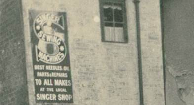 Mr Elisha's tailoring and haberdashery business was on the corner of Chapel Lane