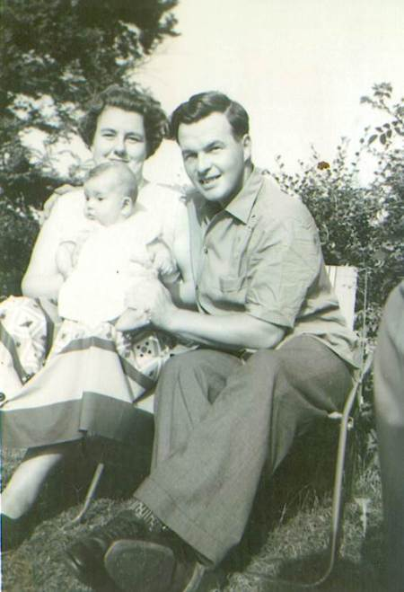 Geoff, Val and Mary Ann Alexander in 1960