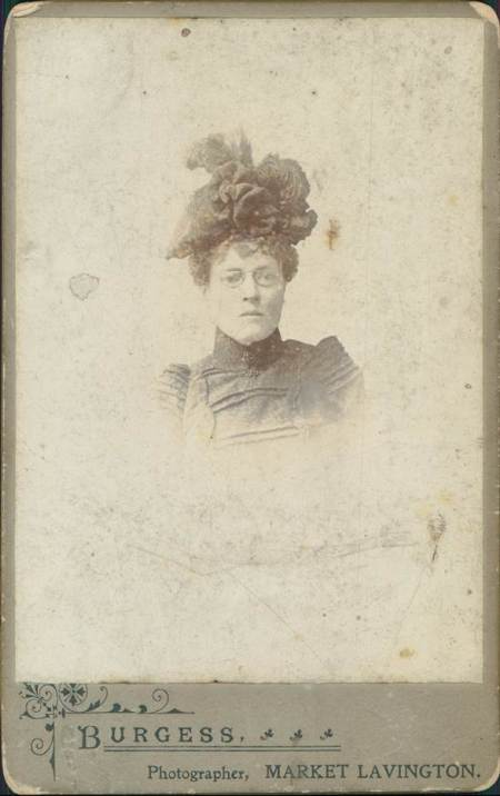 Unidentified lady as photographed by Alf Burgess of Market Lavington in about 1900