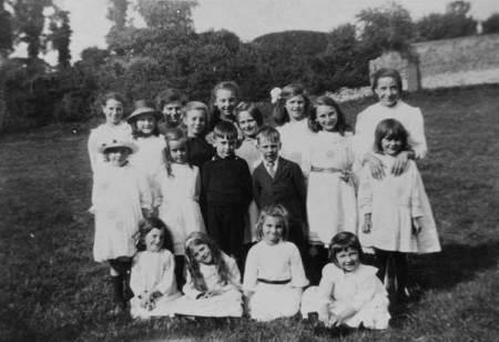 A Market Lavington School picnic in about 1921