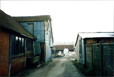 The old sheds which stood where George Mews stands now