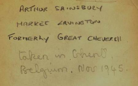 Information on the back of a photo. To acquire for Market Lavington Museum or not to acquire? That is the question.