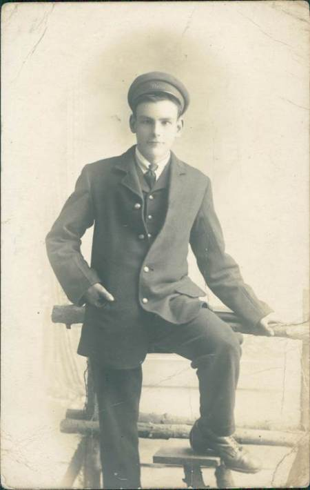 This photo of an unknown man is at Market Lavington Museum