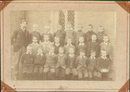 1890s photo of the Boys' School in Market Lavington