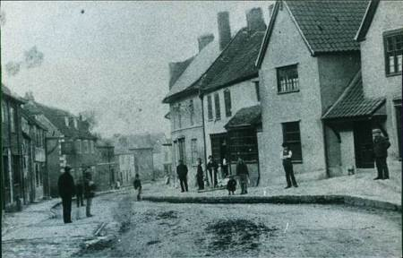 Market Lavington High Street in the 1890s